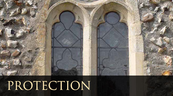 Protection and metalwork of stained glass