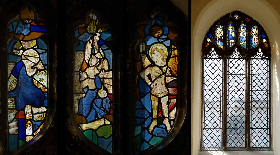 Medieval Stained glass windows in Norwich, Norfolk