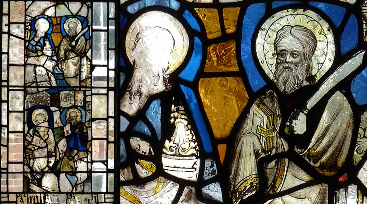 Specialist conservation of stained glass at St. Peter Hungate, Norwich, Norfolk